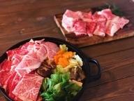 本格手打ち蕎麦とオリーブ牛すき焼きセット【B-34】