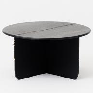 Q−043.SUSPENDER S/TABLE L BK【諸富家具】