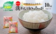 【新米先行予約】K23_0001 <無洗米コシヒカリ 洗わんでいっちゃが 10kg>