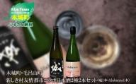 K21_0010 <木城町・毛呂山町 新しき村友情都市コラボ日本酒2種2本セット(城1本・Alabanza1本)>