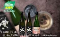 K21_0011 予約受付<木城町・毛呂山町 新しき村友情都市コラボ日本酒2種3本セット(城2本・Alabanza1本)>
