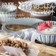飛騨のごちそう朝ごはんセット 合計4種 国産大豆 飛騨納豆 赤かぶ 漬物 ぼっか煮 惣菜詰合せ[Q099]