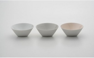 A25-161 CH Bowl Set(White、Gray、Pink) 2016/