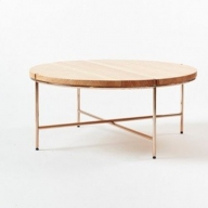 【FIL】900 Coffee Table-Natural Wood & Copper Frame