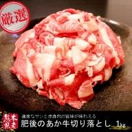 ○【熊本県産】肥後のあか牛(切り落とし1kg)