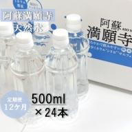 |12ヶ月定期便|阿蘇満願寺天然水(500ml*24本)