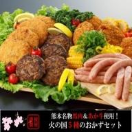 【熊本名物】馬肉&あか牛使用!火の国5種のおかずセット