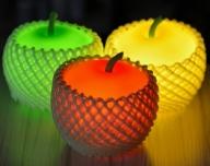 アップルライト(赤・黄・緑)3個セット【LEDランタン】