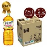 定期便 5カ月 爽健美茶 2L×6本セット 【 ペットボトル 飲料 緑茶 健康 神奈川県 海老名市 】
