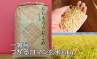 一等米 青森県産つがるロマン玄米30kg