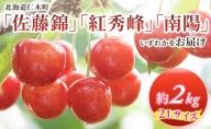 <仁木ファーム>北海道仁木町産2Lサイズさくらんぼ約2kg