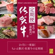 F100-057 【定期便】 (年6回/奇数月お届け) 佐賀牛 お届け便 肉本舗小城