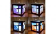 キューブ型あんどん「和あそ美cube」