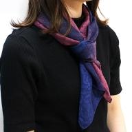 F2−012.草木染シルクストール 紫