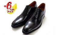 本革 ビジネスシューズ 革靴 紳士靴 6cmアップ シークレットシューズ No.1301 ブラック