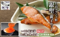 【10月中旬頃より発送】銀聖いくら醤油漬(60g×2P)と鮭3種の味の切身(70g×8袋)[B01-134]