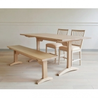 【0100008】Dining Table Shaker 1600 + Bench Shaker 1500 + Grace Chair〈ナチュラル革〉