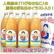 りんごジュース(ストレート) 1L×6本 【青森りんご・三戸りんご】