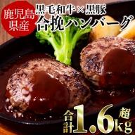 a5-141 【鹿児島黒毛和牛&黒豚】肉屋の贅沢合挽き生ハンバーグ15個