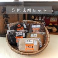 【ふるさと納税】大阪屋こうじ店謹製 五色味噌セット