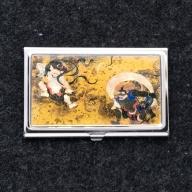 【ふるさと納税】名刺ケース 風神雷神図屏風 七宝かさね 京琥珀