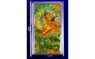 【ふるさと納税】七宝かさね京琥珀の名刺ケース(ミュシャ)