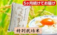 特別栽培米★[頒布会]5ヶ月★毎月白米5kg【ミルキークイーン】