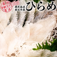 A1-3062/ヒラメ塩締めロイン刺身用(海水塩締め冷凍)1尾分