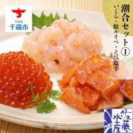 〈佐藤水産〉潮合セット(1)いくら・鮭ルイベ・えび塩辛