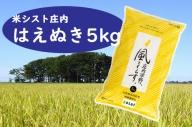 庄内平野、風と暮らす はえぬき5kg