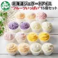 502.北海道 アイスクリーム ジェラート 食べ比べ 15個 アイス フルーツ いっぱい C セット 手作り 弟子屈 北国からの贈り物