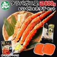 538. タラバガニ足 4L 800g 北海道 いくら ホタテ たらば 蟹 イクラ 専用ハサミ付 かに ほたて