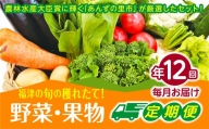 【年12回毎月】穫れたて!旬の野菜・果物定期便★あんずの里【随時開始】[C6250]