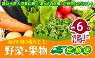 【年6回偶数月】穫れたて!旬の野菜・果物定期便★あんずの里【随時開始】[C6260]