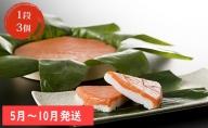 【5~10月発送】ますの寿司 1段3個 ますのすし 鱒ずし 鱒寿司 ます寿司