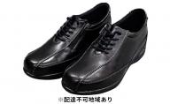 PIERRE RICCI ピエールリッチ 高級シープ革4E快適エアークッション レディースシューズ ブラック(婦人靴)