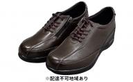 PIERRE RICCI ピエールリッチ 高級シープ革4E快適エアークッション レディースシューズ  ダークブラウン(婦人靴)