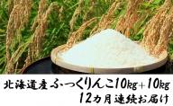 【12カ月連続】函館育ち ふっくりんこ 10kg+10kg