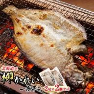 北海道産 柳かれい一夜干し 2枚×2個セット【1084086】