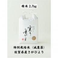 A−148.特別栽培米(減農薬)さがびより精米2.7kg