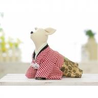 EM21◇1番人気の紅白市松柄!小型犬のオリジナル本格着物袴【ペット着物】