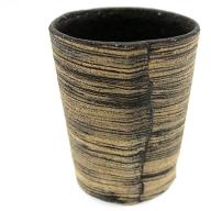 C−286.刷毛目フリーカップ(黒)