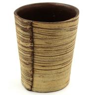 C−287.刷毛目フリーカップ(茶)