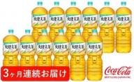 【定期便3回】爽健美茶2L PET 6本×2ケース