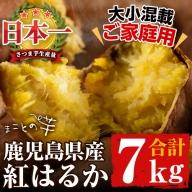 a0-038 まことの芋 紅はるか 3.5キロ×2箱(大小混載 合計7kg)