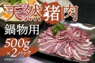 天然イノシシ肉(スライス・冷凍)約500g×2パック