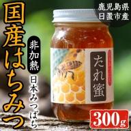 No.536 ≪数量限定≫非加熱 日本みつばち808 たれ蜜(300g)日本蜜蜂があつめた日置のハチミツ!【日置南洲窯】