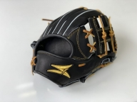 SAEKI 野球グローブ【硬式・ショート用】【ブラック】【親指・バンド部一体型】