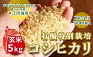 <令和2年産新米>三百年続く農家の有機特別栽培コシヒカリ(【玄米】5kg)
