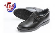 本革 ビジネスシューズ 革靴 紳士靴 5.5cmアップ モンクプレーン シークレットシューズ No.921 ブラック